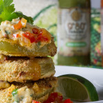 food photography fried green tomatores