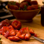 food photography strawberries