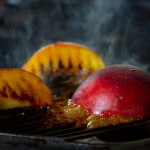 food photography grilled peaches
